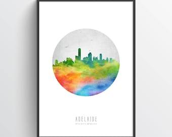Adelaide Poster, Adelaide Skyline, Adelaide Cityscape, Adelaide Print, Adelaide Art, Adelaide Decor, Home Decor, Gift Idea , AUAD20P
