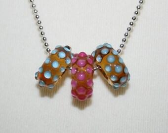 Lampwork beads, glass beads, artist beads, nature, handmade glass beads, 15 x 6 mm