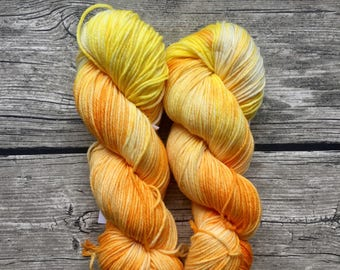 The Sun Will Come Out Tomorrow - Hand Dyed Superwash Merino Nylon Yarn - DK Weight Yarn - Hand Dyed Yarn