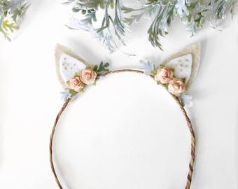 Fawn ears Headband || Woodland deer headband || Boho chic headband || photo shoot