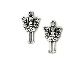 25pcs--pendentifs, les filles, argent Antique, 25x15mm (B41-28)