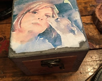 Pet Memorial Box, Pet Photo Box, Pet Keepsake, Pet Gift, Pet Urn, Trinket Box
