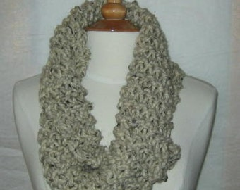 Soft and Plush Oatmeal Cowl Scarf Neck Warmer