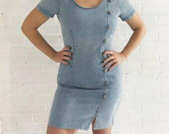 Vintage Denim Let's Play Dress