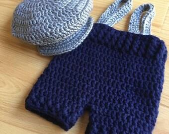 Crochet Newborn Newspaper boy outfit
