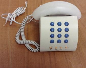 90's vintage Michael Graves white desk telephone