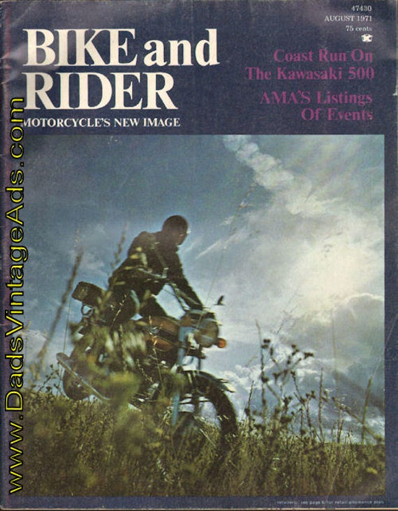 1971 August Bike and Rider Motorcycle Magazine Back-Issue #mb601