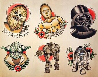 Star Wars Tattoo Flash