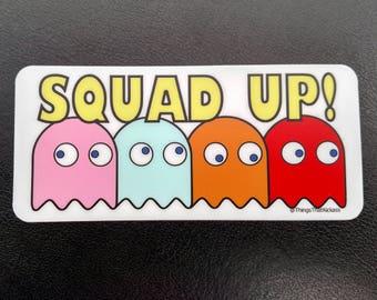 "Squad Up! 5"" x 2.25"" Vinyl Sticker"