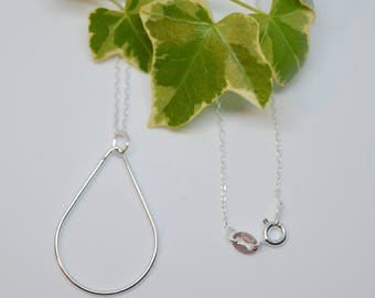 Sterling Silver - DROPLET Fine Chain Necklace