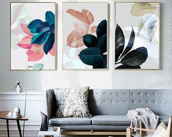 Nordic Style Leaves Canvas Wall Art