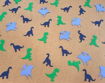 Blue and Green Dinosaur Confetti - Dinosaur Birthday Party - Boy Birthday Party - Dinosaur Baby Shower - Dinosaur Decorations - Dino Party