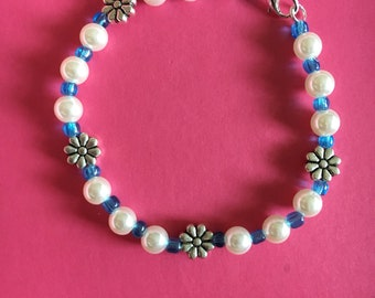 Spring daisy bracelet/anklet