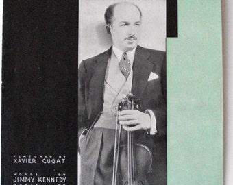 Tango Hit, Isle Of Capri 1934. Jimmy Kennedy, Will Grosz. Harms Music NYC. Xavier Cugat photo.