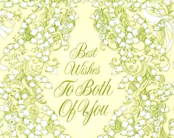 Vintage Best Wishes To Both Of You, Gift Wrap, Wedding Wrapping Paper