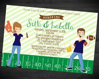Birthday House Divided Invitation Football Party Invitation
