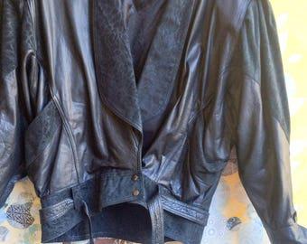 Totally Rad 80's Genuine Leather Jacket Medium