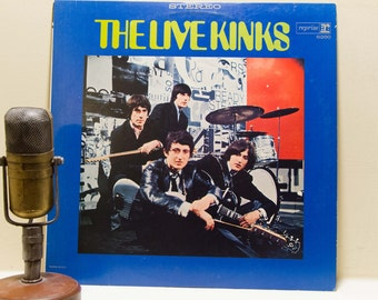 "The Kinks Vinyl Record Album 1960s British Rock Pop Rock and Roll LP ""The Live Kinks""(1971 Reprise Re-issue)"