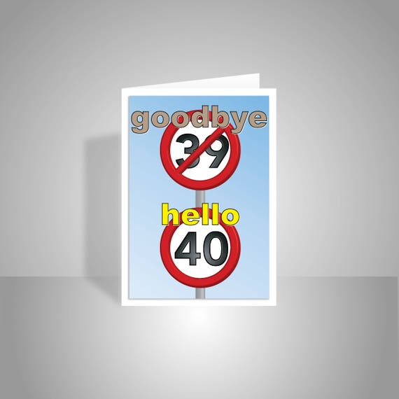 Funny 40th happy birthday card for him for her 40 birthday like this item bookmarktalkfo Choice Image