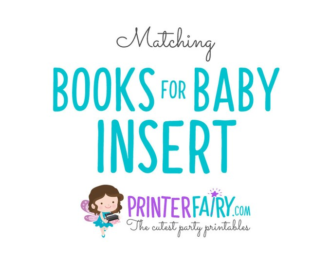 Matching Books for Baby Insert