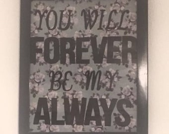 Large frame with quote