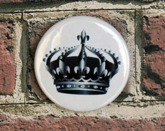 Keep Calm Crown Pin/Button, Magnet, or Keychain