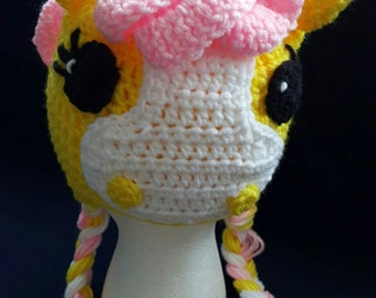 Painted Pony in Pink, Crocheted/Handmade