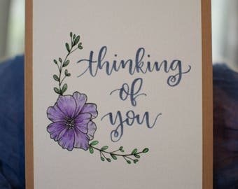 5x7 Handmade Thinking of You Card
