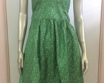 Green halter neck dress