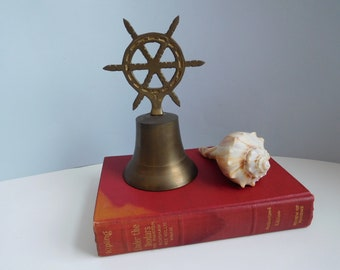 Vintage brass bell Nautical brass bell Beach house decor Nautical decor