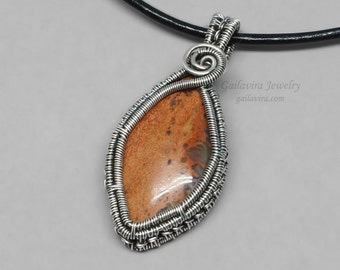 Sterling Silver and Agate Pendant Necklace - CLEARANCE