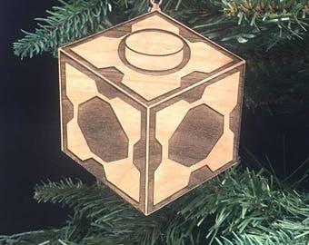 Custom Engraved Hardwood Mr Meeseeks Box Christmas Ornament - Rick and Morty