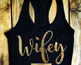 Wifey Tee, Wifey Shirt, Wifey, Bridal Shower Gift, Engagement, Bachelorette,Wedding, Soft And Comfortable Wifey Tee, Bridal Shop