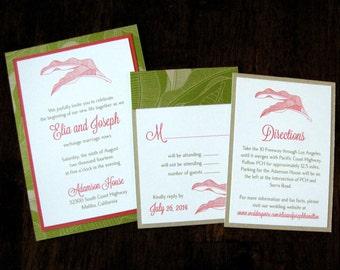 Hawaiian Wedding Invitation Suite