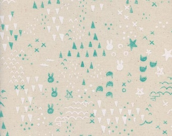 Cotton + Steel – Sleep Tight by Sarah Watts, Maps - Neutral