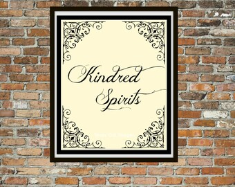 Kindred Spirits Wall Art, Anne of Green Gables Quote Art Print, L. M. Montgomery, Printable Digital Download, Poetry Wall Art, Best Friends