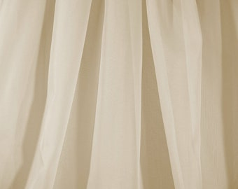 Sheer Voile Fabric Extra Wide in Champagne - Priced Per Yard