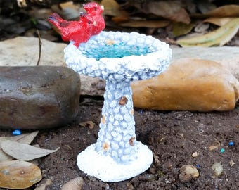 Fairy Garden Birdbath, Fairy Garden Accessory, Miniature Garden Birdbath, Fairy Garden Bath, Miniature Birdbath, Terrarium Accessory, Fairy