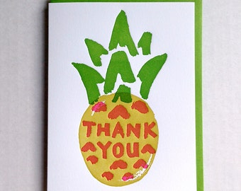 Pineapple Thank You Card