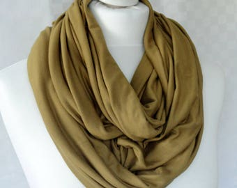 Chunky Mustard infinity scarf, Circle scarf, Mustard scarf, Viscose scarf, Winter scarf, Statement scarf