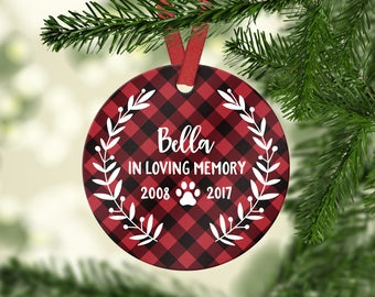 Pet Memorial Christmas Ornament Pet Memorial Ornament Dog Memorial Christmas Ornament Pet Loss Gifts Dog Loss Gift Dog Memorial Ornament