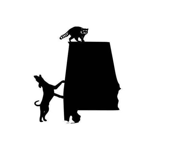 Alabama Coon Dogs Hunting Cutting Files Silhouette Svg Dxf
