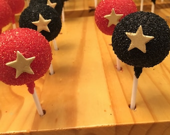 Cake Pops with Gold Star