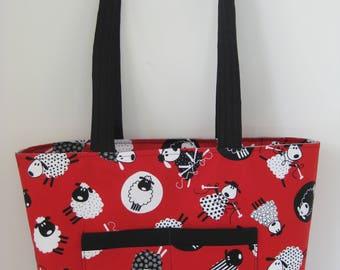 Tote Bag, Knitting Bag, Shopping Bag,