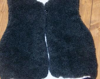 Shepherd's vest faux fur