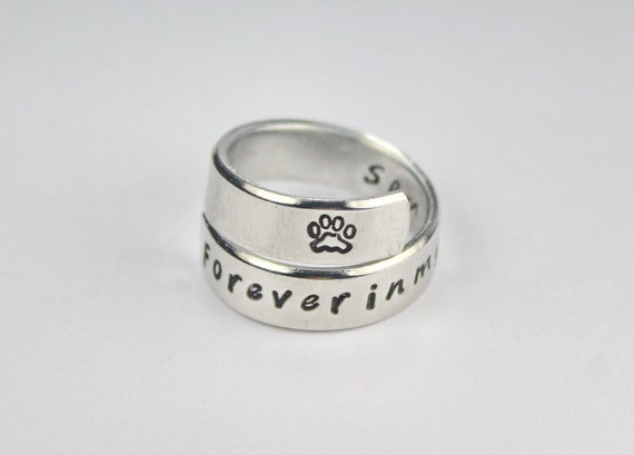 sterling dog ring gifts animal heart lovers for to rings pet paw and jewelry silver my dazzling pin close