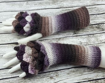 Fingerless gloves - Arm warmers  -Fingerless Mittens - Hand warmers-Dragon Gloves