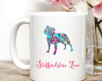Staffordshire Bull Terrier Love Coffee Mug