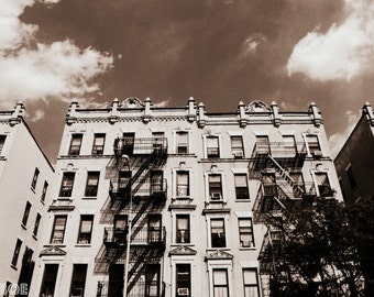New York City Photography, NYC Wall Art Print, Neutral Modern Decor, Bronx Buildings Photo Print