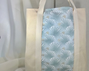 tote bag off-white and green